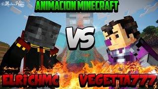 getlinkyoutube.com-Minecraft Animación || Pelea de Youtubers || ElRichMC vs Vegetta777