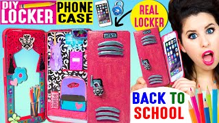 getlinkyoutube.com-DIY Locker Phone Case | Use An iPhone Case As A REAL Locker | Hide Candy & Back To School Items!