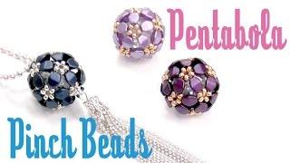 getlinkyoutube.com-Como hacer una Pentabola con Pinch beads