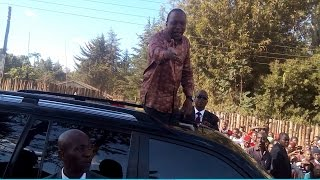"""getlinkyoutube.com-The lady who shouted to President Uhuru """"Nakupenda"""" Elburgon Kenya"""