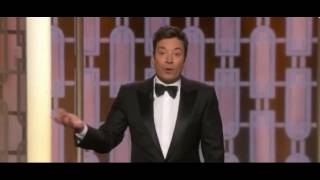 flushyoutube.com-Golden Globes Host Jimmy Fallon Takes 3 Swipes at Trump in first 4 Minutes of Show