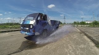 getlinkyoutube.com-Slow Motion, VW T3 , Pritsche & Doka TDI , Vanagon , HD 720/120 & WVGA 240 FPS , LOW BUDGET SPORBITZ