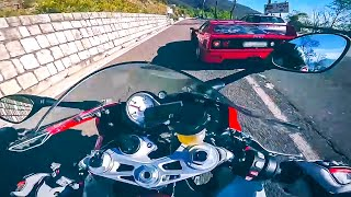 getlinkyoutube.com-Ferrari F40 vs MaxWrist BMW S1000RR