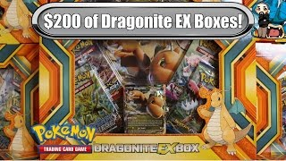 getlinkyoutube.com-Opening 10x Dragonite EX boxes! $200 worth! Pokemon Trading Card Game unboxing