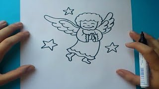 getlinkyoutube.com-Como dibujar un angel paso a paso | How to draw an angel