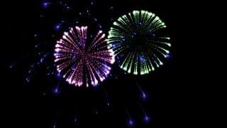 getlinkyoutube.com-Green screen fireworks HD (black luma key) for green and blue screen techniques
