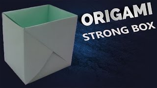 getlinkyoutube.com-how to make a strong box from paper- Origami