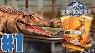getlinkyoutube.com-Jurassic World: The Game - BUYING A LEGENDARY CARD PACK - Jurassic World Gameplay Walkthrough Part 1