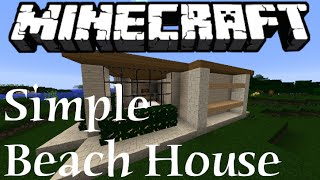 getlinkyoutube.com-Simple Beach House! - Minecraft Tutorial
