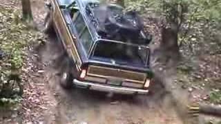 getlinkyoutube.com-Jeep Wagoneer Woody's hill climb Morris Mountain