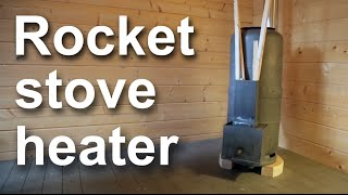 getlinkyoutube.com-Rocket stove heater for a workshop or a room