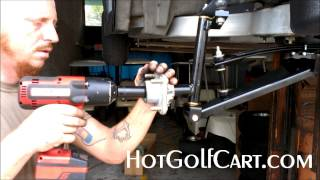 "getlinkyoutube.com-Hot Golf Cart 6"" Lift Kit Club Car Precedent How To Install Gas or Electric"