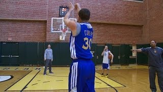 getlinkyoutube.com-Shooting Contest: Curry vs. Coach Jackson