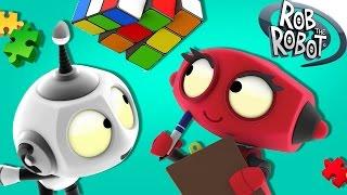 getlinkyoutube.com-Cartoon | Learn Something New With Rob | Cartoon For Kids | Rob The Robot