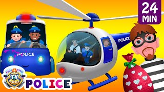 getlinkyoutube.com-ChuChu TV Police Thief Chase - Police Car, Helicopter, Bike | Save Surprise Eggs Kids Toys & Gifts