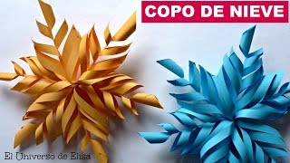 getlinkyoutube.com-Adorno de Navidad, Copo de Nieve de Papel. How to Make Paper Snowflakes