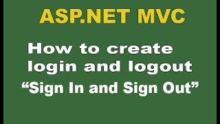 getlinkyoutube.com-How to create login and logout in Asp.Net MVC