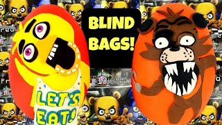 getlinkyoutube.com-FIVE NIGHTS AT FREDDY'S Chica & Foxy Play Doh Surprise Eggs | Blind Bags |