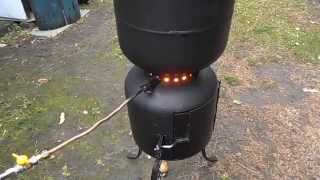 getlinkyoutube.com-Drip fed waste oil heating free