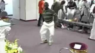 getlinkyoutube.com-Crazy Guy Dancing in Church