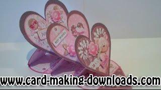 getlinkyoutube.com-How To Make A Triple Heart Easel Card www.card-making-downloads.com