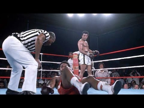 Muhammad Ali vs George Foreman - Rumble in the Jungle Highlights (including build up)