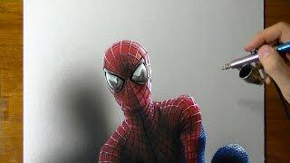 getlinkyoutube.com-Drawing Time Lapse: The Amazing Spider-Man portrait, fan Art