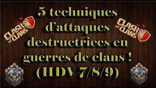 getlinkyoutube.com-5 techniques d'attaques destructrices en guerres de clans ! (HDV 7/8/9)