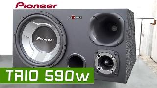 Caixa Trio Pioneer 350w Rms Dutada 12 polegadas - Ts-w3060br