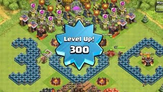 getlinkyoutube.com-Highest/Max Level 300 Player, Capped Exp, Mission Accomplished!!! - Clash of Clans