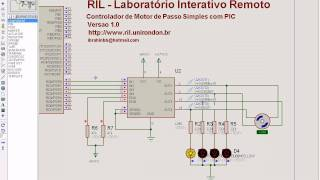 getlinkyoutube.com-http://www.ril.unirondon.br - PIC 16F877A L298 Motor Passo Isis Proteus MikroC