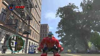 getlinkyoutube.com-LEGO Marvel Super Heroes The Video Game - Red Hulk free roam