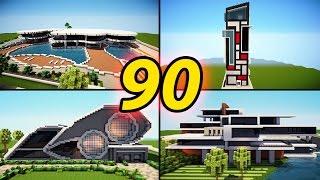 getlinkyoutube.com-90 Amazing Minecraft Modern House Builds / Best Houses 2016 + Download