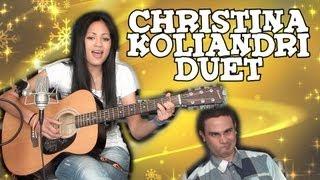 getlinkyoutube.com-Christina Koliandri Ντουέτο (feat Ο Βλάκας)