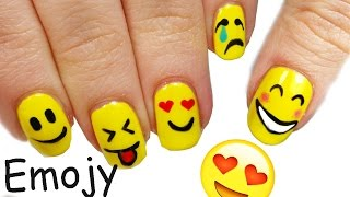 getlinkyoutube.com-Emoji NAIL ART Tutorial!