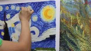 getlinkyoutube.com-Is it Really Hand Painted? See How we Create a Hand Painted Van Gogh Starry Night!