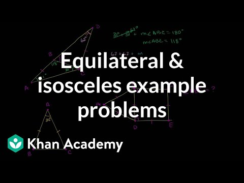 Equilateral and Isosceles Example Problems