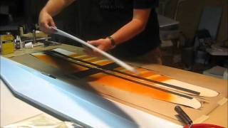 Making a Composite Plane - Laying Up Wing the Wing p 2 #5 .wmv