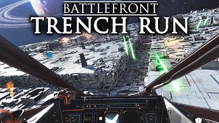 Star Wars Battlefront   Luke's Death Star Trench Run in the Red Five X-wing Gameplay