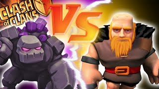 "getlinkyoutube.com-""GOLEMS VS GIANTS"" - Clash of Clans - MAXED BATTLE OF THE TANKS! Epic Loot Versus Attacks!"
