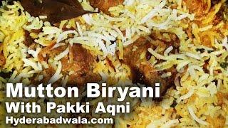 getlinkyoutube.com-Hyderabadi Dum Biryani Recipe Video in HINDI - URDU -  ( Mutton ) Pakki Aqni