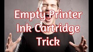 getlinkyoutube.com-Empty Printer Cartridge Secret Hack - How To Print With Low Ink Trick