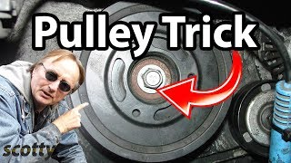 getlinkyoutube.com-Crankshaft Pulley Removal Trick