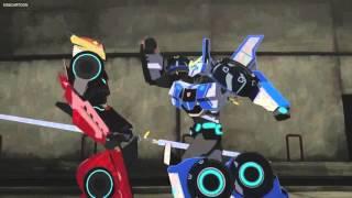 getlinkyoutube.com-Transformers Robots in Disguise Autobots vs Vertebreak (Round 2)
