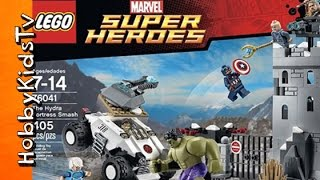 getlinkyoutube.com-LEGO Hydra HULK SMASH Fortress + Captain America Super Jumper Build! By HobbyKidstV