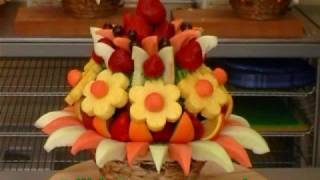 getlinkyoutube.com-Edible Fruit Bouquets and Arrangements. With or without chocolate.