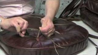 getlinkyoutube.com-How To Make Leather Chair Cushions