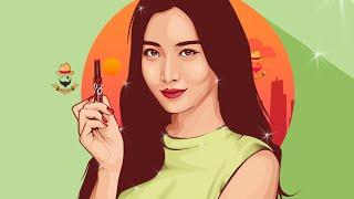 getlinkyoutube.com-Vector Vexel Portrait Photoshop Tutorial  - Yura Girl's Day (Time Lapse)