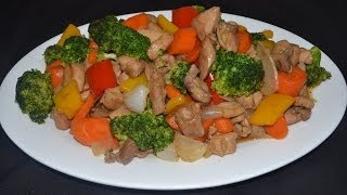 getlinkyoutube.com-Pollo con brocoli - Comida China