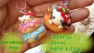 getlinkyoutube.com-DONITAS kawaii DE HELLO KITTY 😻 Porcelana Fría TU